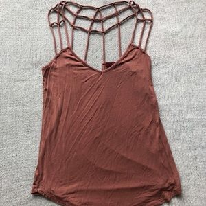 Red by BKE Strappy Caged Back